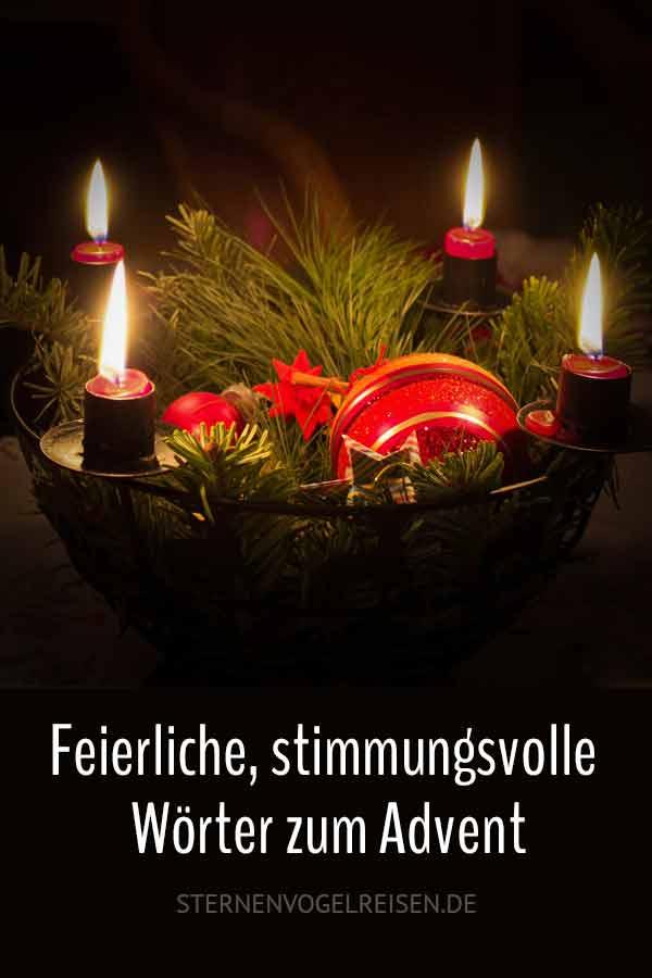 49 Feierliche und stimmungsvolle Wörter zum Advent