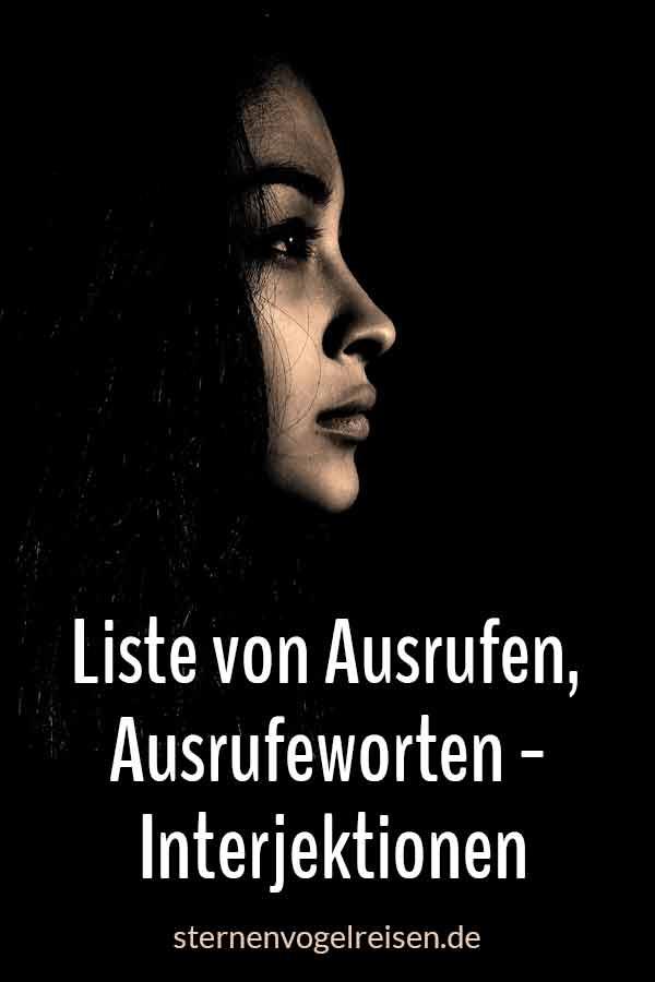 Ach! 59 Ausrufewörter der deutschen Sprache – Liste der Interjektionen
