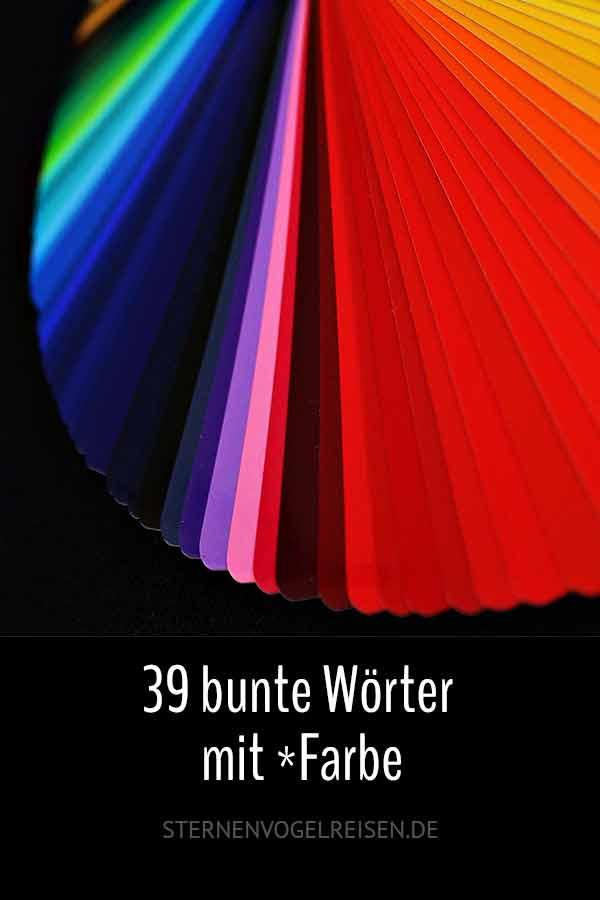 39 bunte Wörter mit *Farbe
