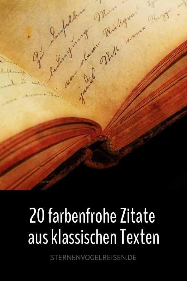 Die Farbe in klassischen Texten – 25 bunte Zitate