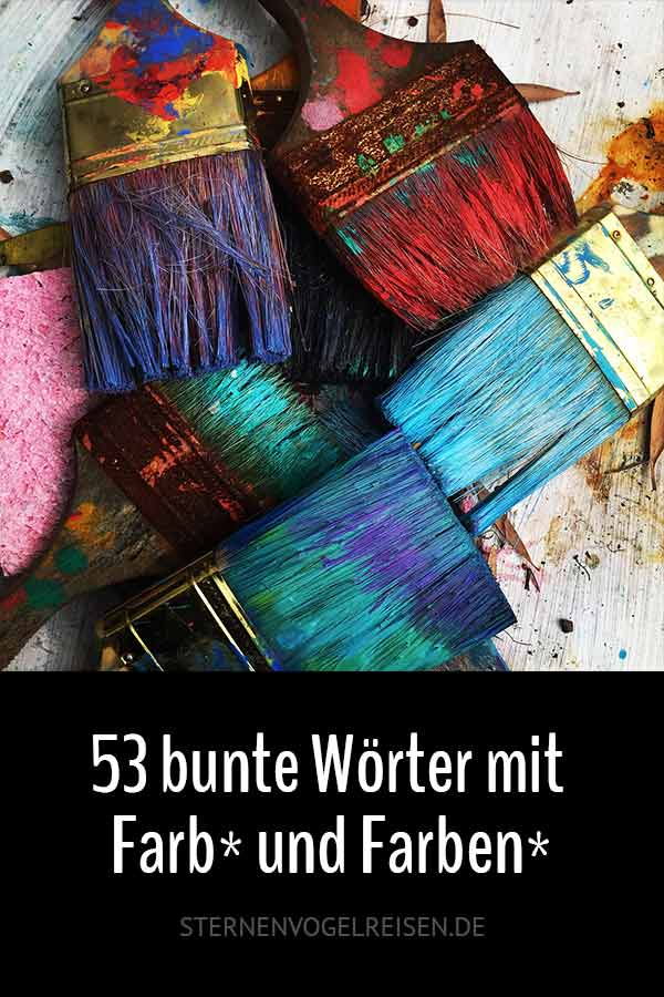 53 bunte Wörter mit Farb* und Farben*