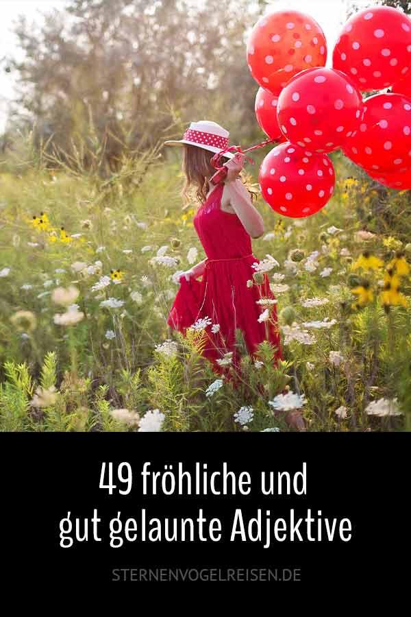 49 fröhliche und gut gelaunte Adjektive