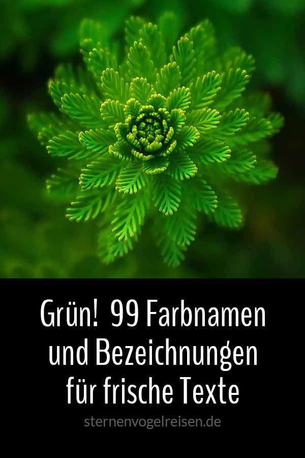 Grün! 99 Farbnamen und Bezeichnungen für frische Texte