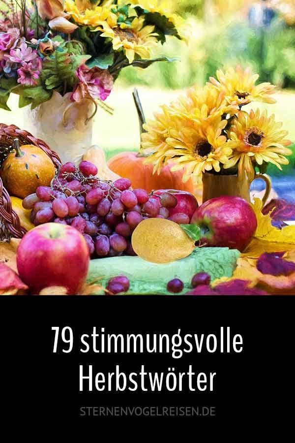 79 stimmungsvolle Herbstwörter – Worte mit Herbst*