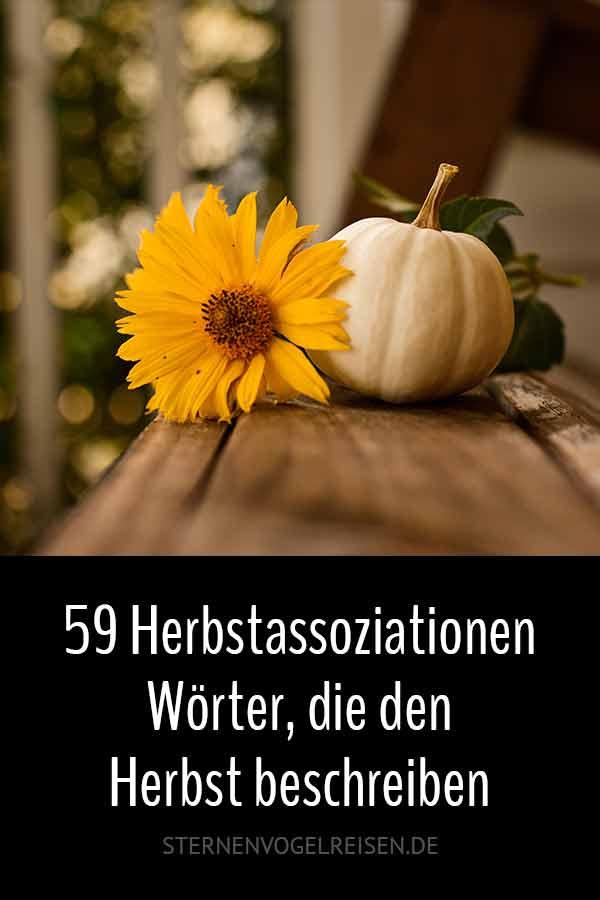 59 Herbstassoziationen – Wörter, die den Herbst beschreiben
