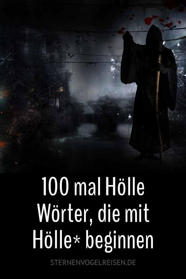 Hölle – 100 brennendheiße finstere Wörter* beginnen