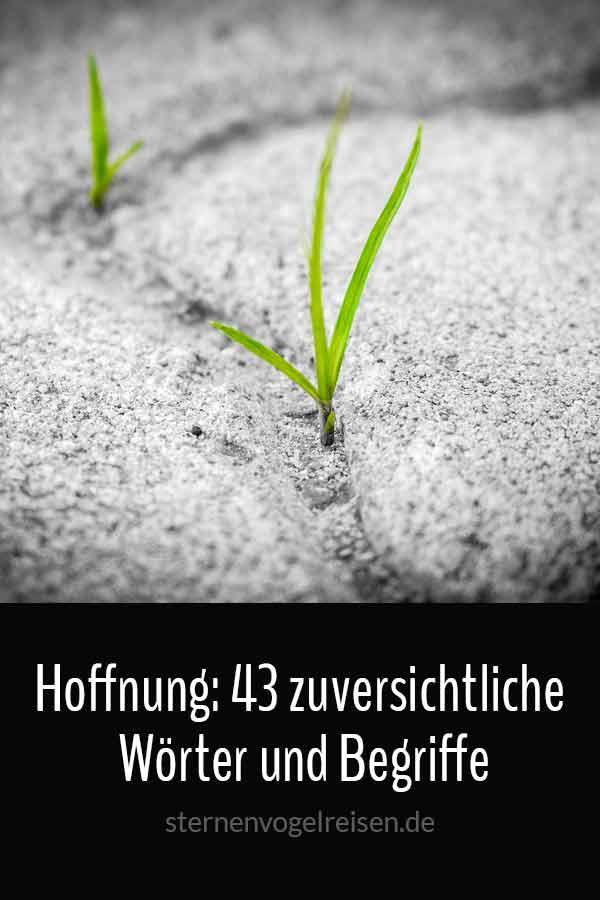 Hoffnung: 43 zuversichtliche Wörter und Begriffe
