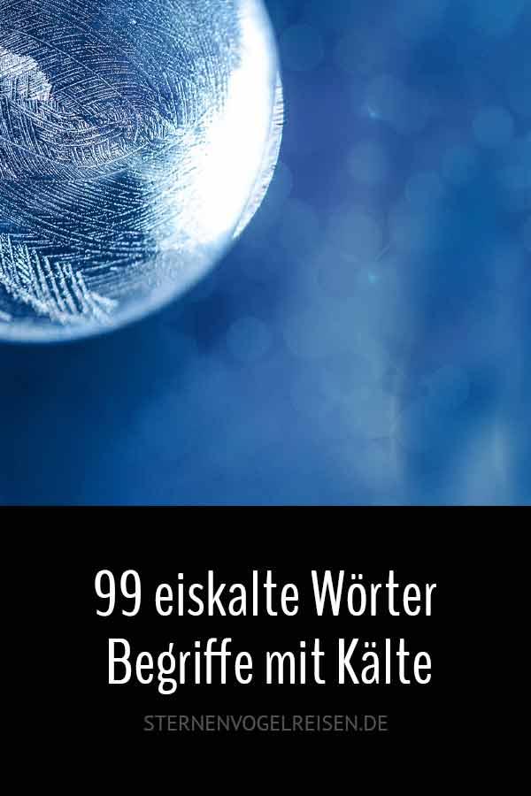 89 eiskalte Wörter – Begriffe mit Kälte