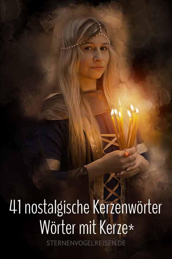 41 nostalgische Kerzenwörter / Wörter mit Kerze*