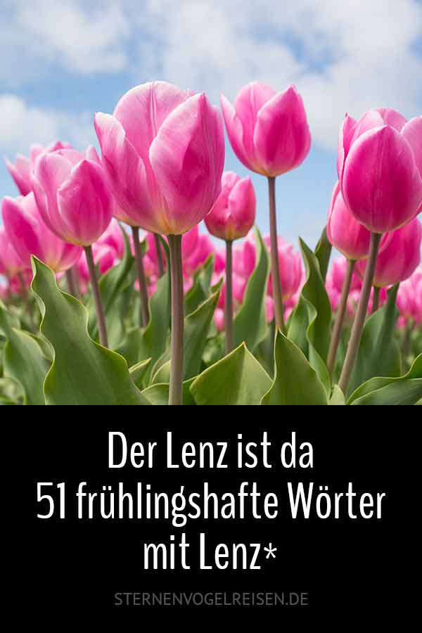 Der Lenz (Frühling) ist da / 41 Wörter mit Lenz*