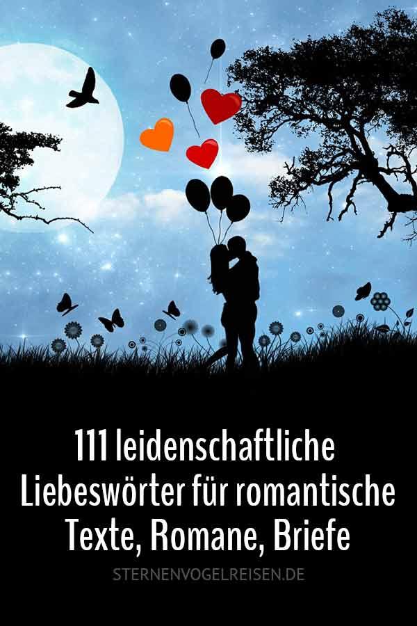 111 leidenschaftliche Liebeswörter – Wörter mit Liebe* für romantische Texte, Romane, Briefe