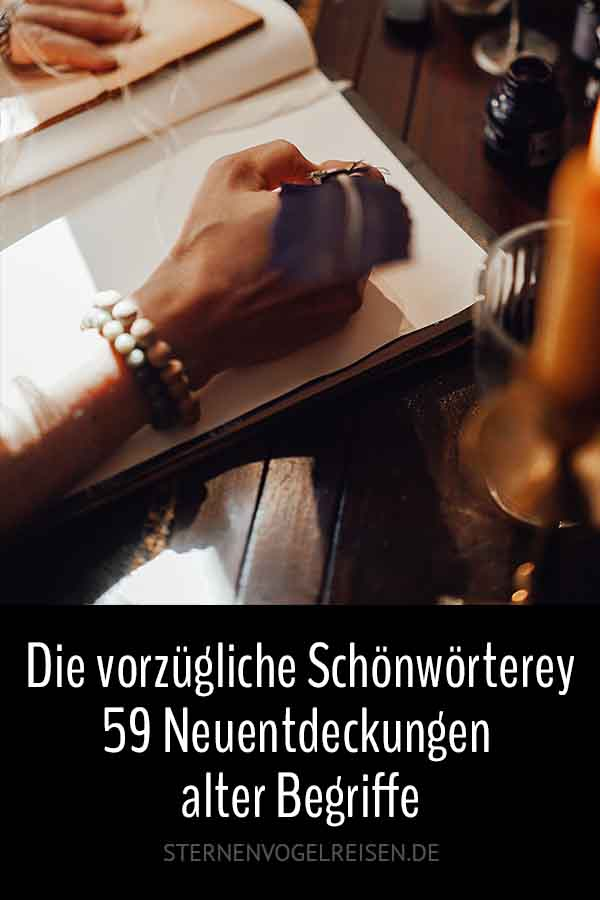 Die vorzügliche Schönwörterey ... 59 Neuentdeckungen alter Begriffe