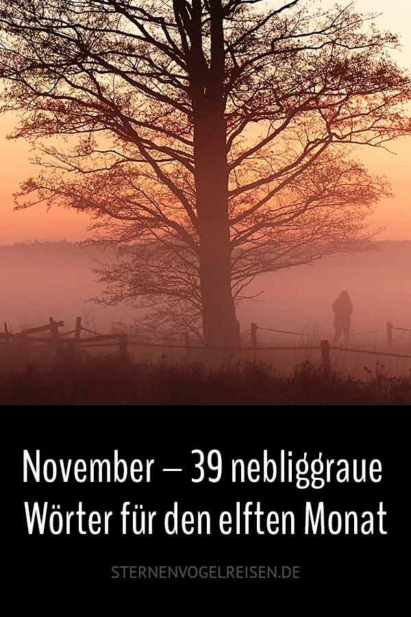 November – 39 nebliggraue Wörter für den elften Monat