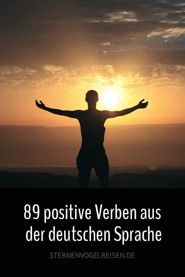 89 positive Verben aus der deutschen Sprache