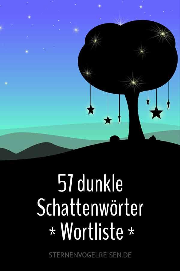 49 dunkle Schattenwörter * Wortliste