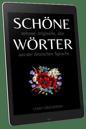 Schöne Wörter Buch im iPhone
