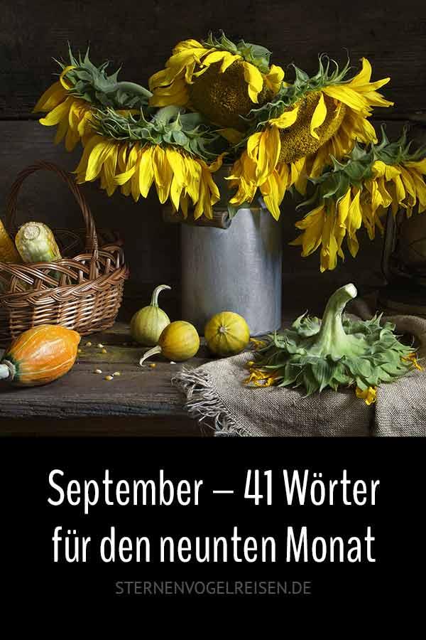 September – 41 spätsommerliche Wörter für den neunten Monat