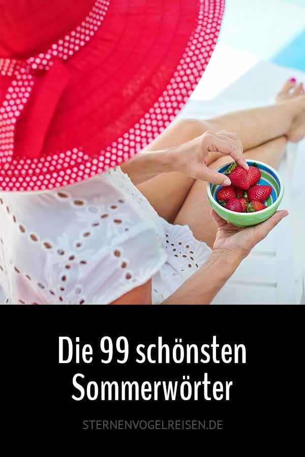 Die 99 schönsten Sommerwörter der deutschen Sprache