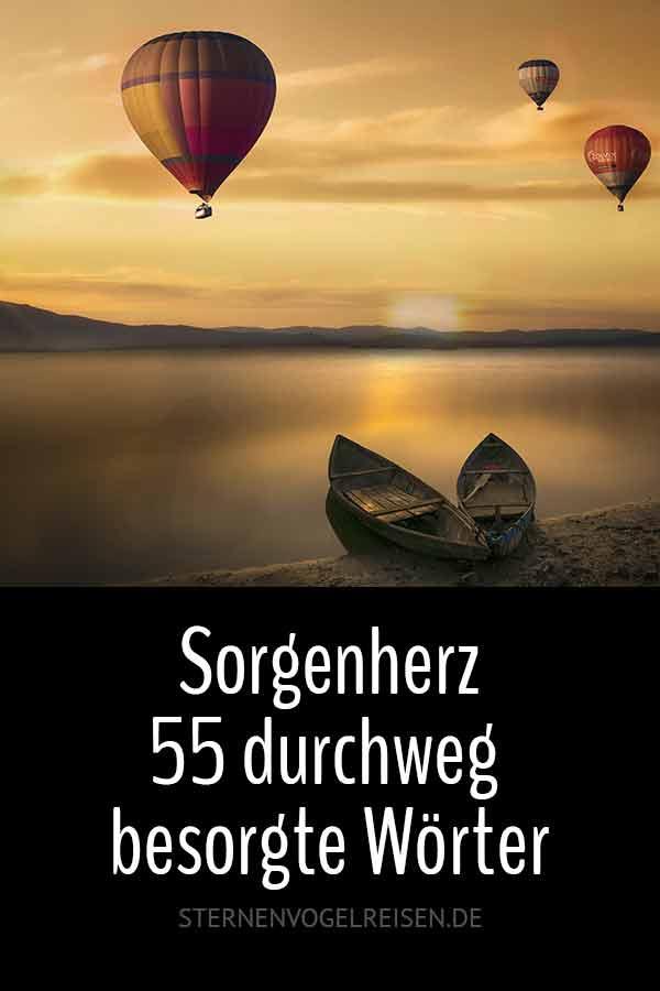55 sorgenvolle Wörter und Begriffe