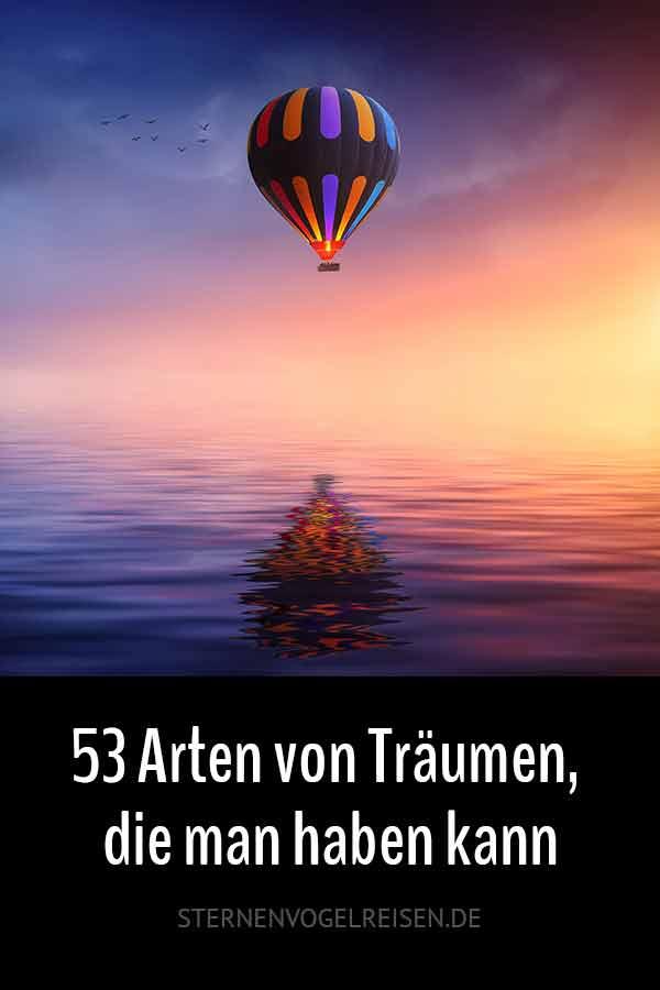 53 Arten von Träumen, die man haben kann