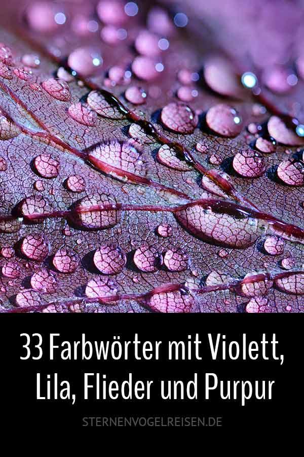 33 Farbwörter mit Violett, Lila, Flieder und Purpur