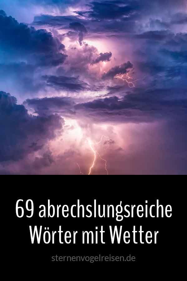 69 abwechslungsreiche Wörter mit Wetter