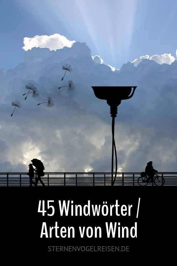45 Wörter mit Wind* und 45 Arten von Wind