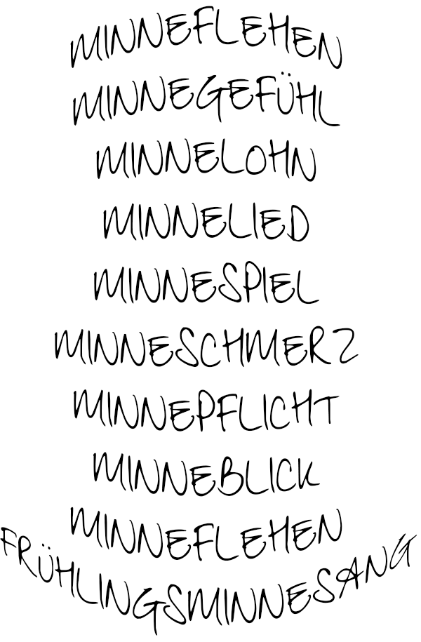 Minnewörter Grafik