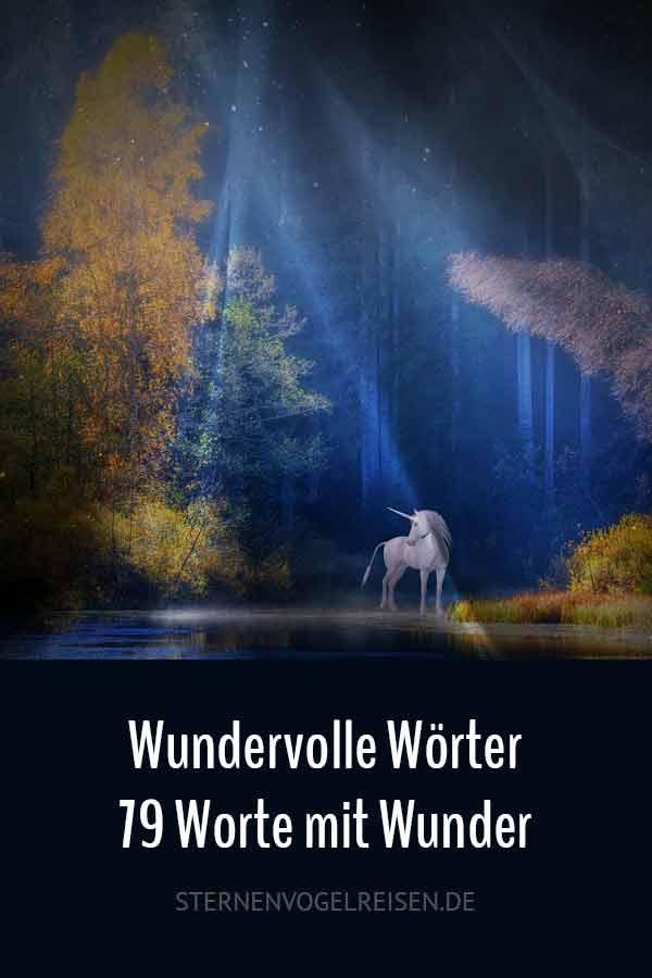79 wunderbare Wörter mit Wunder