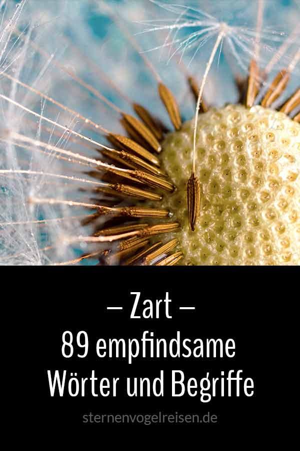 Zart – 79 empfindsame Wörter und Begriffe
