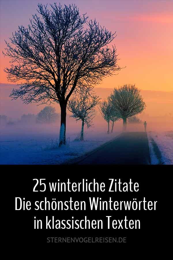25 winterliche Zitate – Die schönsten Winterwörter in klassischen Texten